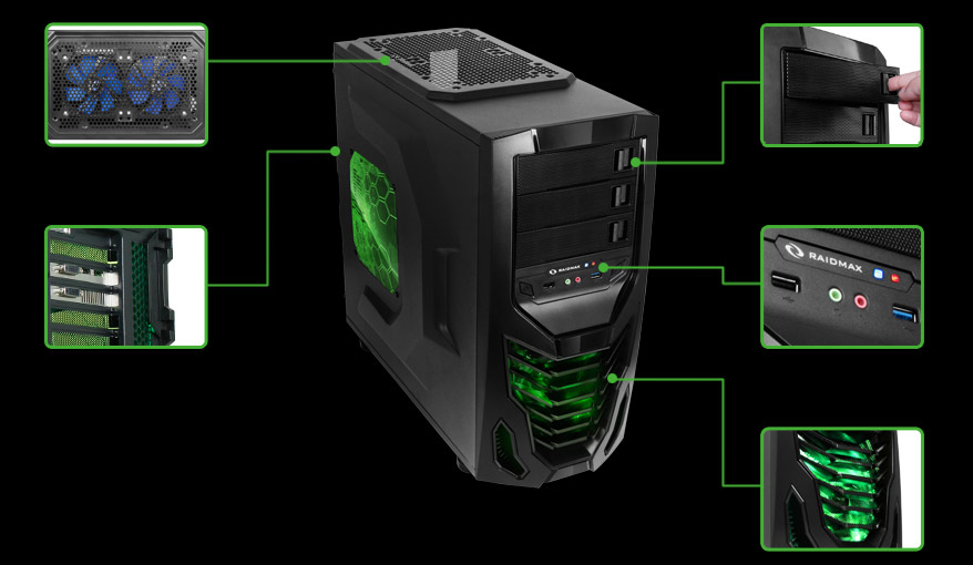 Raidmax Cobra Wide Body Atx Case Review More Than Just