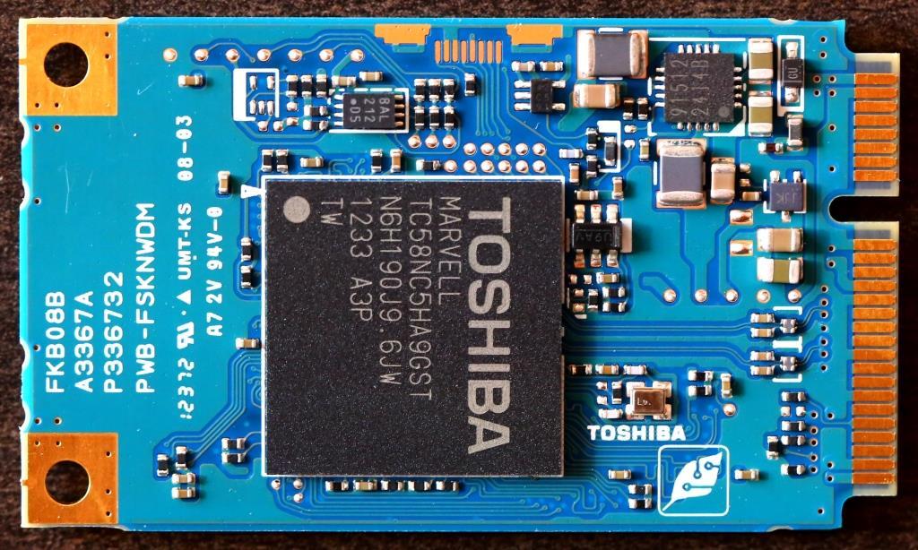 Toshiba THNSN mSATA 256G SSD Back