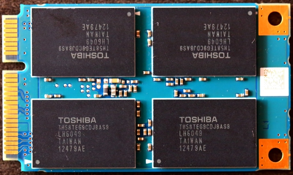Toshiba THNSN mSATA 256G SSD Front No Branding