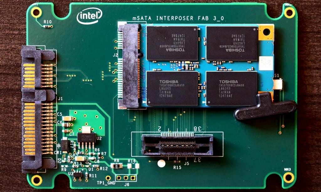 Toshiba THNSN mSATA 256G SSD Marvell Adapter Card