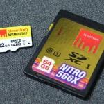 Strontium Nitro 566X SDXC 64GB Card and Strontium Nitro 466X SDHC 32GB Card