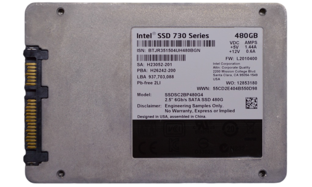 Intel SSD 730 Series 480 GB Back
