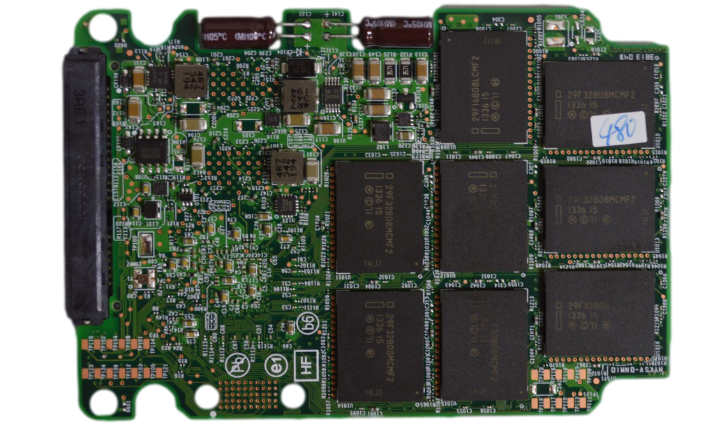 Intel SSD 730 Series 480 GB PCB Back