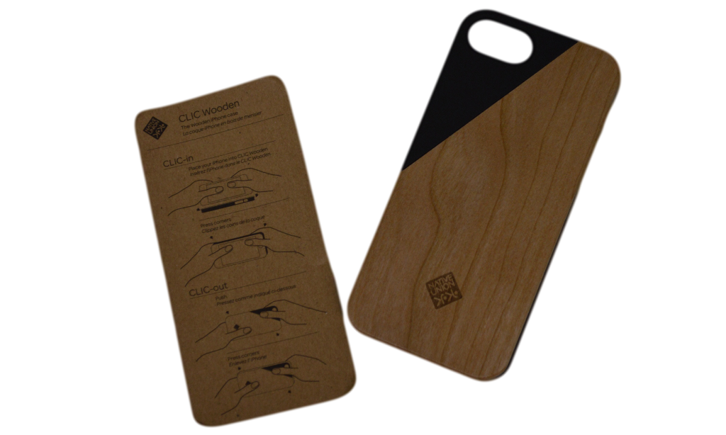 Native Union CLIC Wooden iPhone 5-5s Case and Instructions