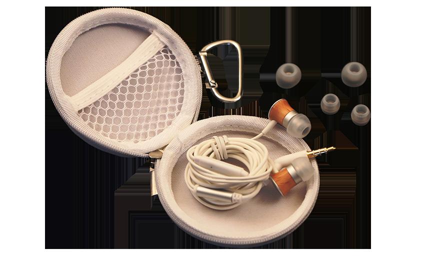 Meze 11 Deco Earbuds Pouch Open