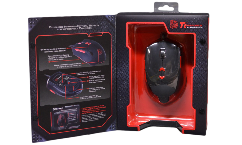 Thermaltake Tt eSPORTS THERON Infrared Gaming Mouse Box Inside