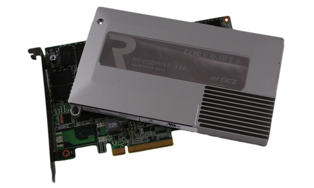 OCZ REVODRIVE 350 PCIE SSD COVER REMOVED