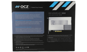 OCZ REVODRIVE 350 PCIE SSD PACKAGE BACK