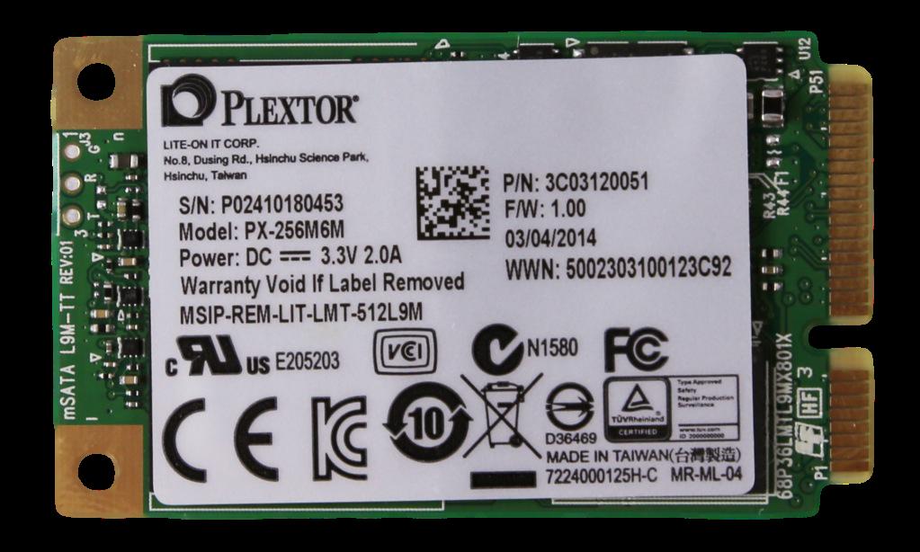 PLEXTOR M6M MSATA SSD FRONT