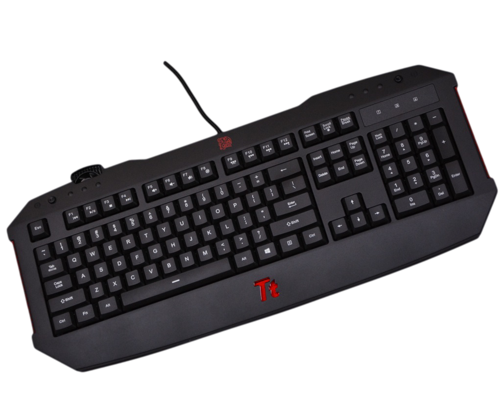 THERMALTAKE TT ESPORTS CHALLENGER ILLUMINATED GAMING KEYBOARD FEATURED