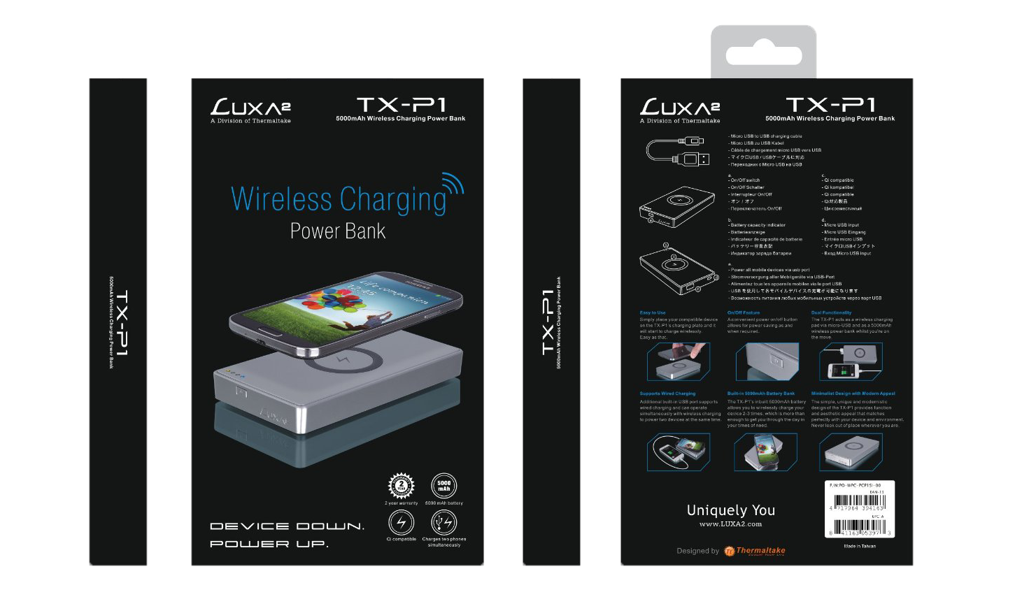 Luxa2  TX-P1Wireless Mobile Charger Packaging2