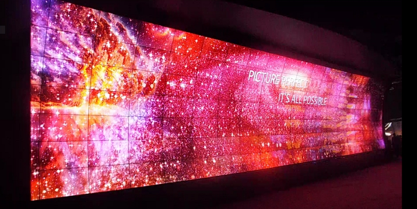 LG giant wall of tv