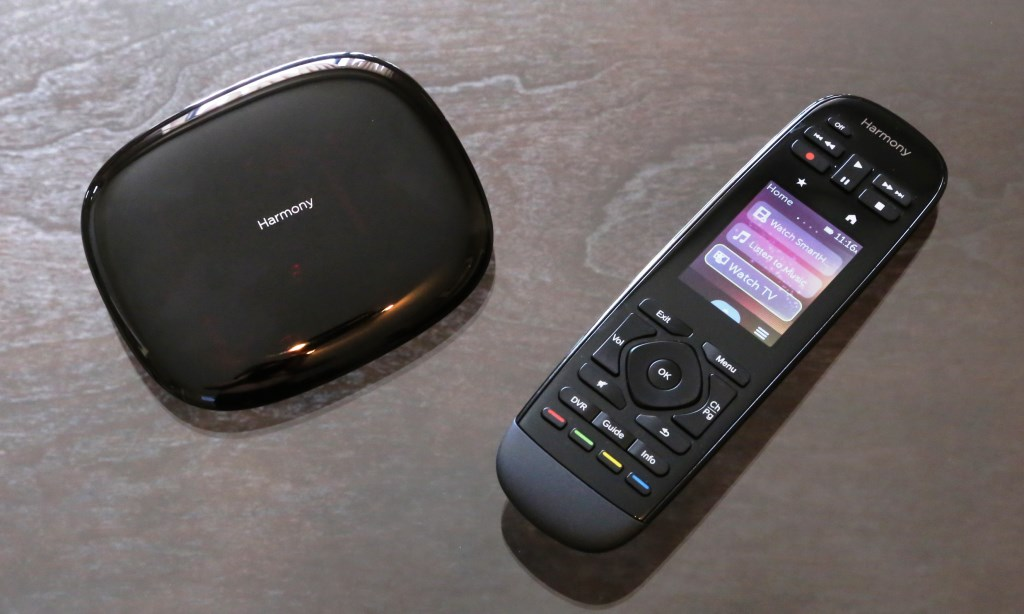 Logitech Harmony Ultimate Remote With Hub on Table