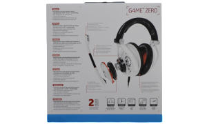 Sennheiser G4ME SERIES G4ME ZERO Gaming Headset Box Back