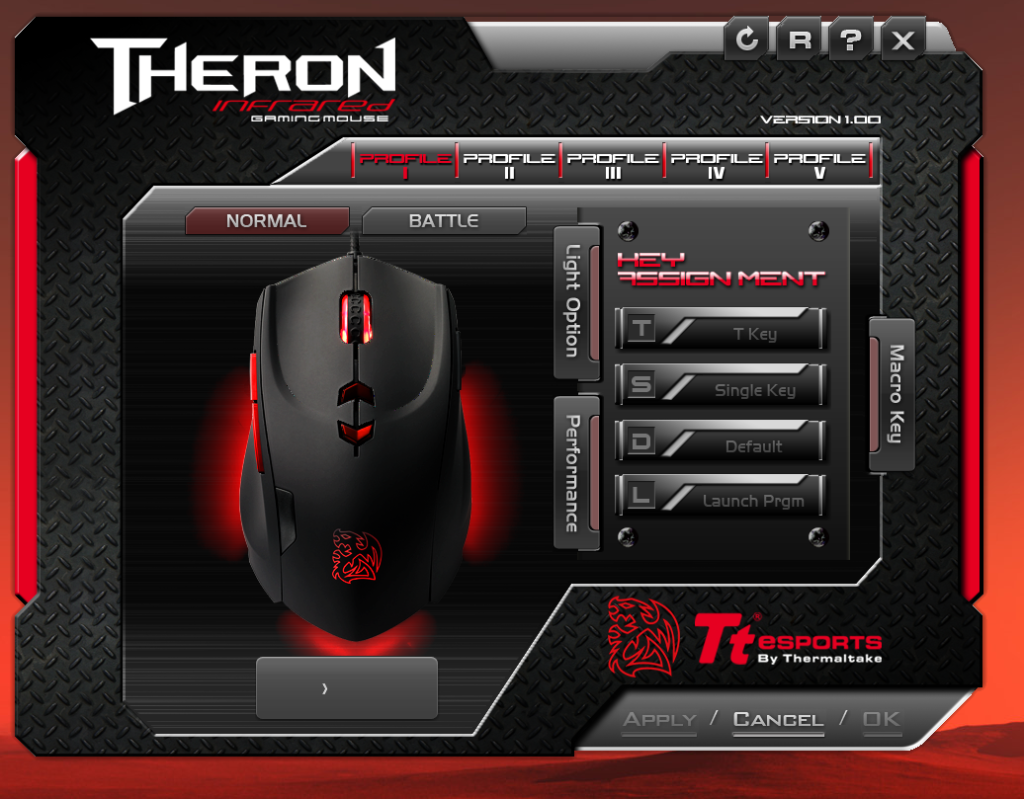 Thermaltake Tt eSPORTS THERON Infrared Gaming Mouse APP