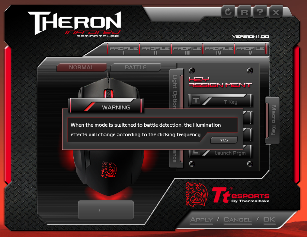 Thermaltake Tt eSPORTS THERON Infrared Gaming Mouse APP Battle Mode