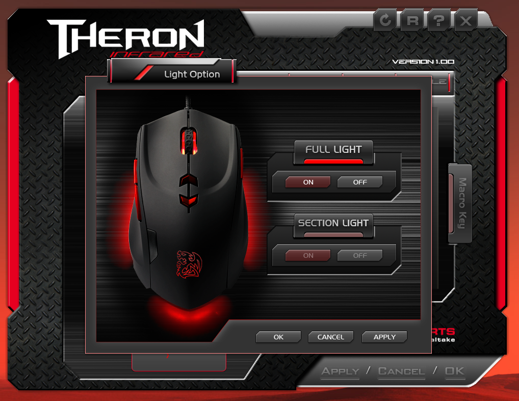 Thermaltake Tt eSPORTS THERON Infrared Gaming Mouse APP Light Options