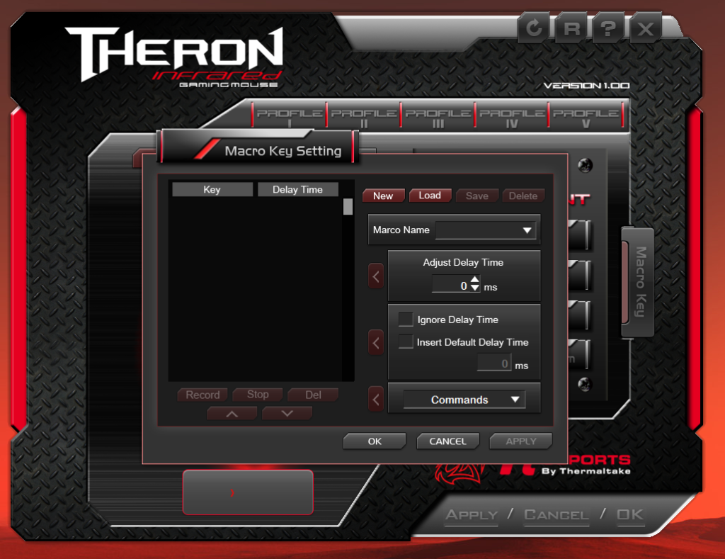 Thermaltake Tt eSPORTS THERON Infrared Gaming Mouse APP Macro Key Setting