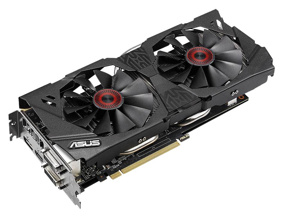 ASUS Strix GTX 970 Front Angle 2