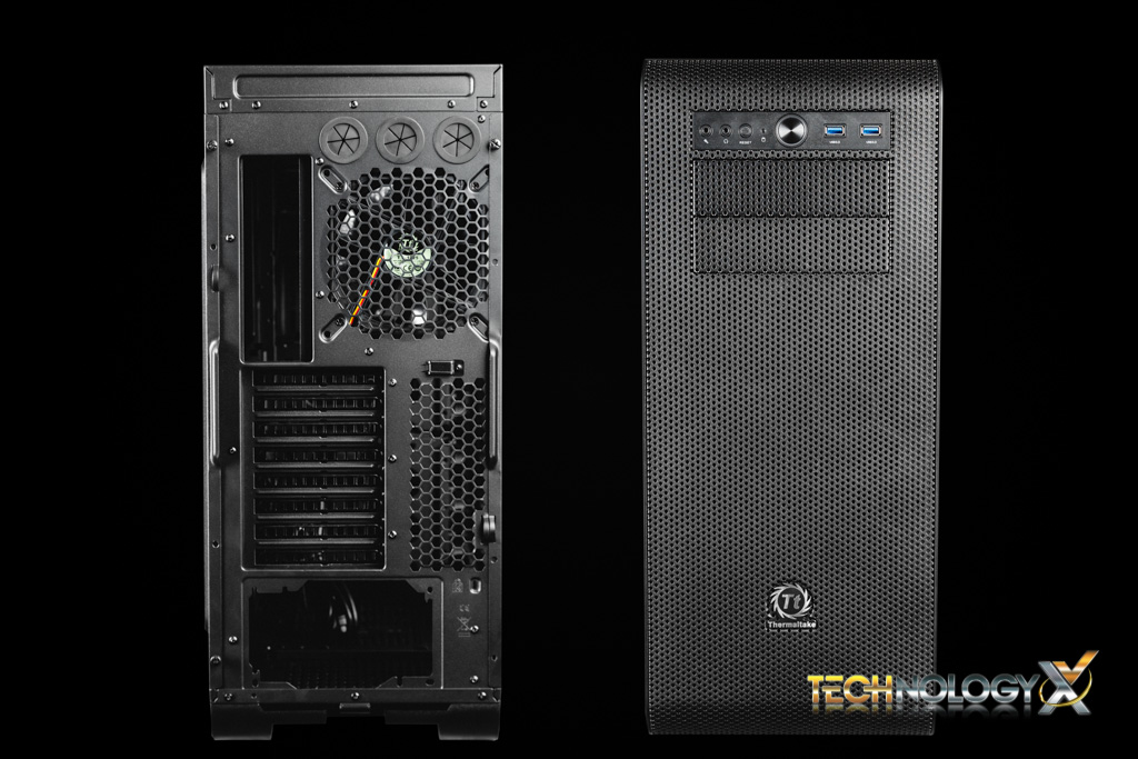 Thermaltake Core V51 front and back
