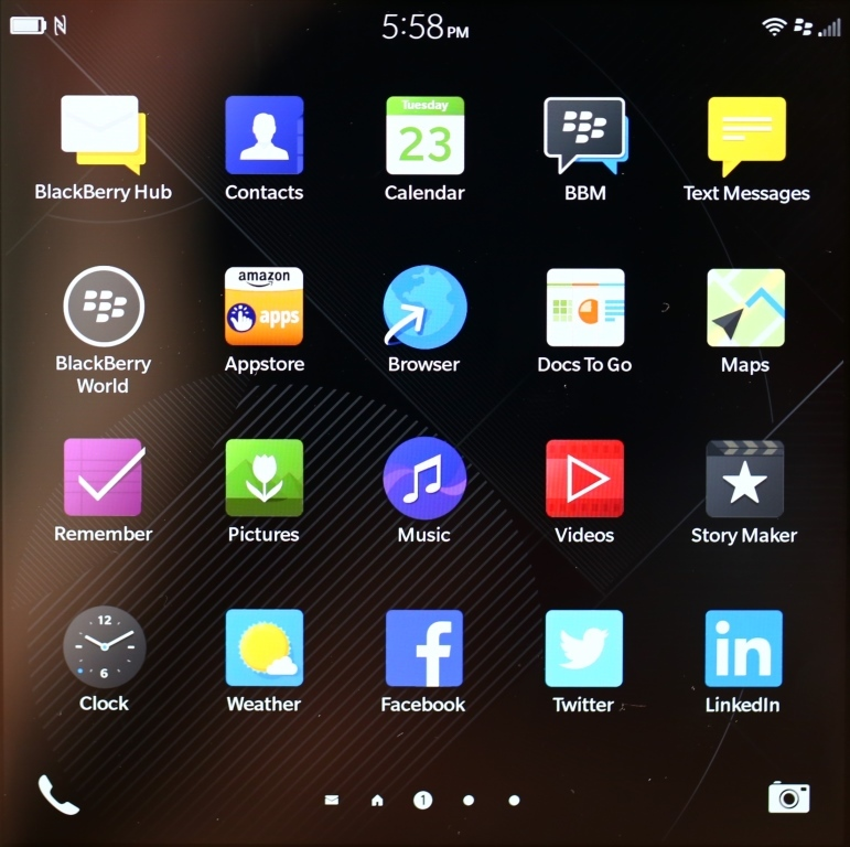 BB10 Icon Screen 1