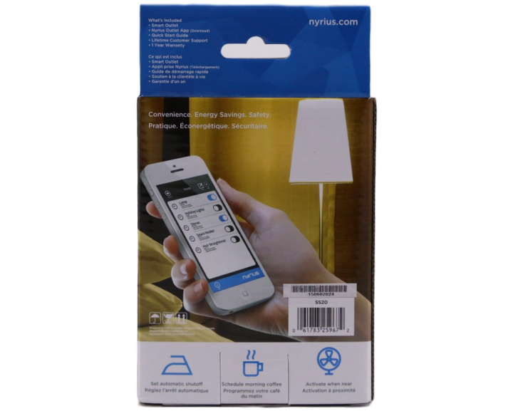 Nyrius Light Bulb and Outlet 3