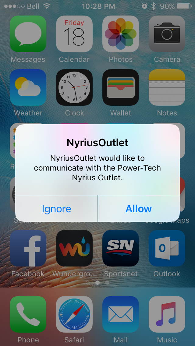 Nyrius Light Bulb and Outlet App 1